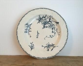 French Vintage Floral Patterned Large China Bowl