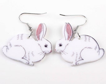 White Rabbit Earrings