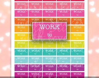 Work Planner Stickers Work ღ Printable Planner Stickers Bold ღ Erin Condern Stickers, MAMBI Happy Planners // Instant Digital Download