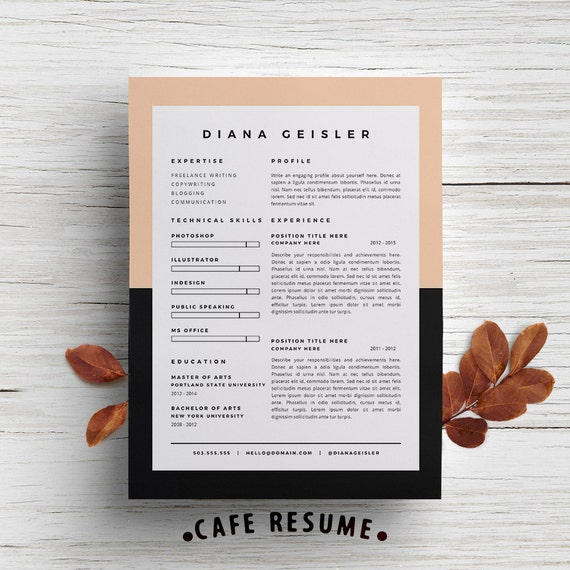 creative resume template cover letter template for word diy printable 4 pack copywriter modern and creative design - Sample Ad Copywriter Resume