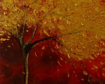 Modern Painting Tree Acrylic Abstract Art Canvas Decor Original Landscape MADE - TO - ORDER