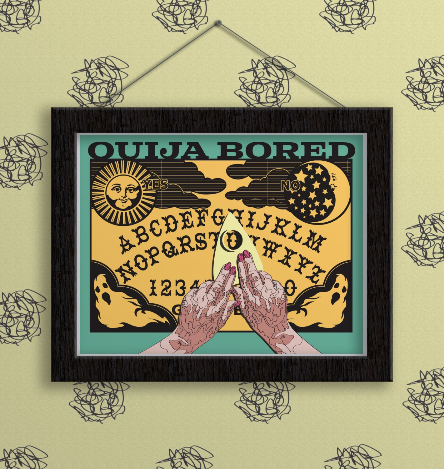 It is a picture of Dynamite Printable Ouija Board