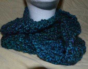 shades of dark blue cowl loop infinity scarf neckware