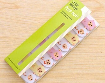 Cute Sheeps Sticky Notes / Peep Out Stick Marker / Cute Sticky Notes / Kawaii Sticky Notes / Post-It / Cute Animal Sticky Notes Tabs