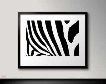 Zebra print, Zebra art, Black and white printable, Zebra wall decor, Zebra decor, Black and white print art, Zebra wall art,Zebra decoration
