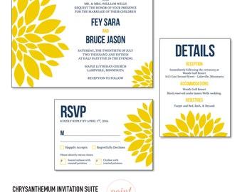 Chrysanthemum Invitation Suite