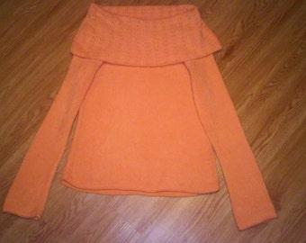 Size Small Orange Sherbet sweater by Pierre Cardin