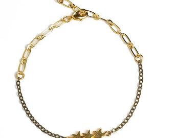 Bracelet gold stars