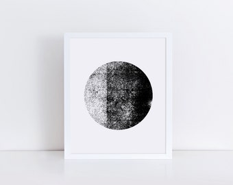Black and White Print, Minimalist Art, Scandinavian Art, Modern Art Print, Zen Art, Printable Wall Art, Circle Print, Geometric Wall Decor