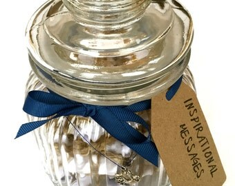 Inspirational Messages and Quotes Jar, Gift for Him, Gift for Her, Motivational Gift