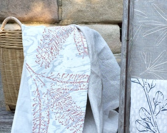 Grevillea Linen Tea Towel Screen Printed, Handmade in Australia- sustainable fabrics