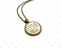 Winnie The Pooh, 'Friendship', Christopher Robin, A. A. Milne Quote Necklace or Keychain
