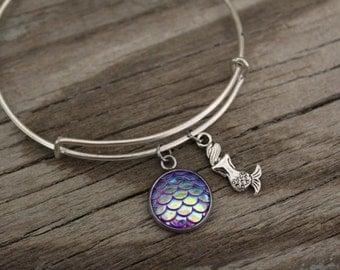 Mermaid Bangle Bracelet - Sea Gift - Ocean Gift - Be A Mermaid - Scales