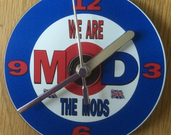 We Are The Mods CD Clock (Can be personalised)