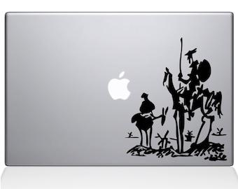 Don Quixote of La Mancha Decal Sticker for Apple Macbook | Miguel de Cervantes Saavedra spain spanish alonso quixano sancho panza