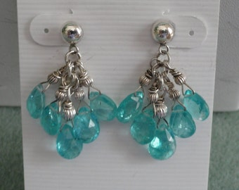 African Apatite Earrings  -  #257
