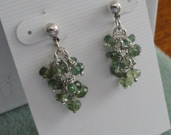 Green African Apatite Earrings  -  #260
