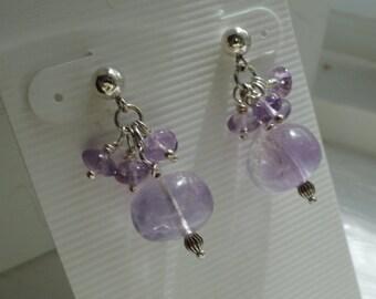 Light purple Amethyst Earrings  -  #271