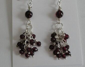 Garnet Earrings  -  #324