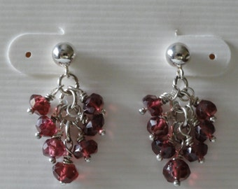 Rhodolite Garnet Earrings   -  #325