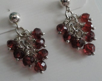 Rhodolite Garnet Earrings  -  #326