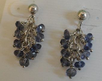 Iolite Earrings  -  #340
