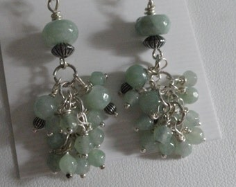 Green Jade Earrings  -  #346