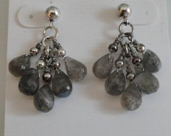 Labradorite Earrings  -  #350