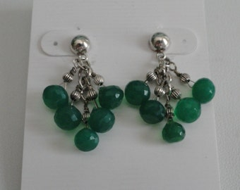 Green Onyx Earrings  -  #366