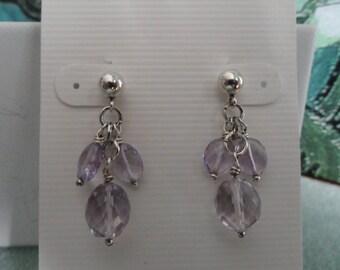 Pink Amethyst Earrings  -  #385