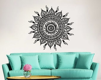 Mandala Wall Decal Yoga Studio Vinyl Sticker Decals Ornament Moroccan Pattern Namaste Lotus Flower Home Decor Boho Bohemian Bedroom ZX51