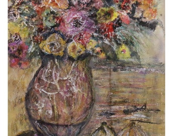 Colorful flowers in vase