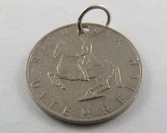 Austrian Five Schilling from 1989 Coin Necklace or Pendant