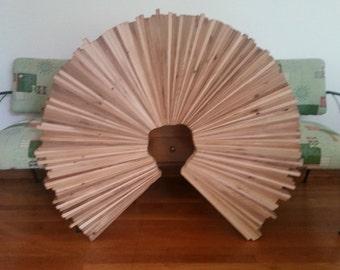 Reclaimed cedar round wall art