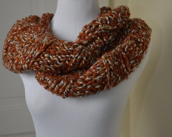 """Totally Tricia Hand Knit Cowl """"Cinnamon"""""""