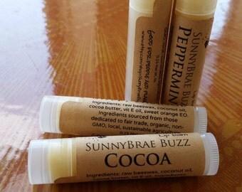 Organic Lip Balm - 2 Pack, Natural Chapstick, Natural Lip Balm, Chapstick, Lip Balm, Lip Gloss, Lip Butter, 0.15 oz.