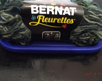 Bernat Fleurettes Yarn ~ Colour Great Lakes #40244 ~ 100 grams