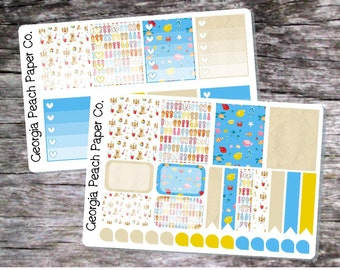 Beach/ Flip FLop Themed Planner Stickers - Made to fit Vertical Layout