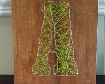 "String Art, Letter ""A"", Made to Order, Wall Decor"