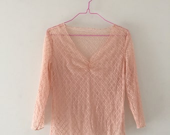 90s Sheer Ballerina Pink Top