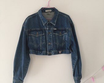 90s GUESS Cropped Denim Jacket