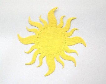 Set of 36 Sun Die Cuts - Tangled Party Decorations - Paper Suns