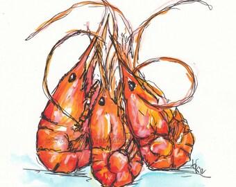 Prawn or Shrimp? Print