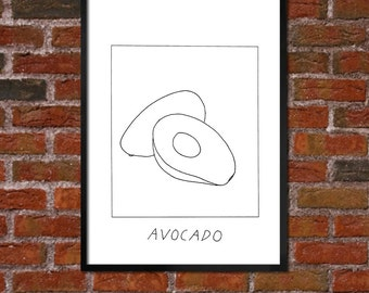 Badly Drawn Avocado - Poster