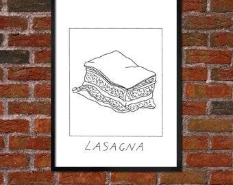 Badly Drawn Lasagne - Poster