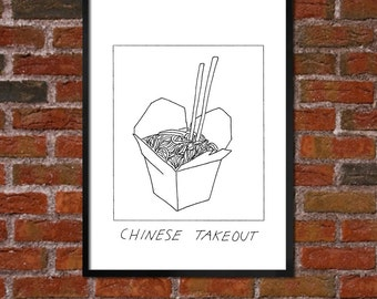 Badly Drawn Chinese Takeout Container - Poster - *** BUY 4, GET A 5th FREE***
