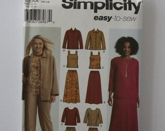 Simplicity 5463 -  easy to sew - Complete wardrobe - Jacket,tank top,skirt, top and slacks