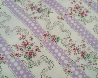 Purple Flower Bouquet Cotton Fabric