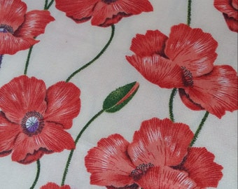 Red Poppies Cotton Fabrics CT015
