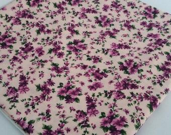 Purple Flowers Cotton Fabric